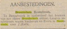 Aanbesteding van Broederhuis Bennebroek, De Tijd, 5-11-1928