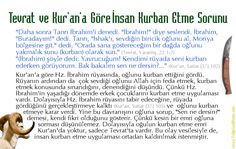 Tevrat ve Kur'an'a Göre İnsan Kurban Etme Sorunu