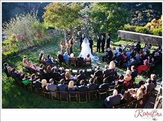 Half Circle wedding chair arrangement enables a more intimate and clearer view for all.  I want to set up the chairs like this. Three rows at the front for elderly people. Everyone else standing behind them for a more intimate ceremony.