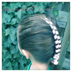 Dutch infinity braid with ribbon Infinity Braid, Braid Hairstyles, Dutch, Braids, Ribbon, Hair Styles, Plaits Hairstyles, Bang Braids, Tape