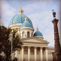 Trinity Cathedral (no pictures allowed inside) - St. Petersburg, Russia