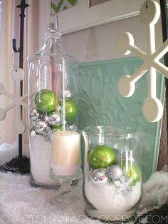cute mantel / centerpiece or side table decoration
