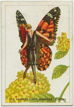 1920s Butterfly Flapper Fairy ~ LÁMINAS VINTAGE,ANTIGUAS,RETRO Y POR EL ESTILO.... (pág. 800)   Aprender manualidades es facilisimo.com