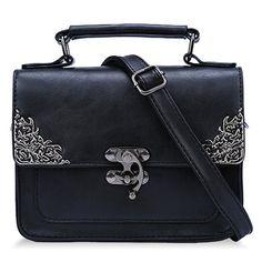 Vintage style ornate black bag