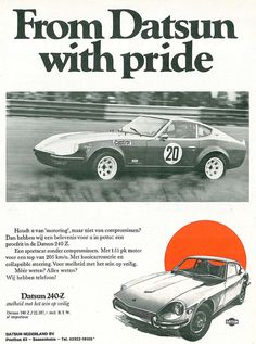 Jdm, 240z Datsun, 70s Muscle Cars, Old School Cars, Car Advertising, Cars And Motorcycles, Motors, Nissan, Automobile