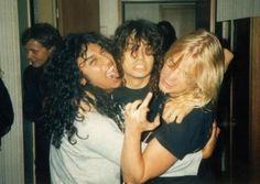 Varge Vikernes and Øystein Aarseth Tom Araya and Dave Lombardo (with Jeff Hanneman)