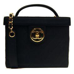 Chanel Black Vanity Case / Designer Handbags & Purses http://www.consignofthetimes.com/product_details.asp?galleryid=7922