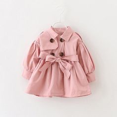 Cheap girls trench coats, Buy Quality fashion outwear directly from China girls trench Suppliers: Girls Trench Coat Spring 2017 Children Clothing Kids Blazer Jackets Baby Girls Clothes Fashion Infant Toddler jacket Outwear Girls Trench Coat, Classic Trench Coat, Trench Coat Style, Trench Coats, Girls Fashion Clothes, Baby Girl Fashion, Fashion Kids, Girl Clothing, Clothing Stores