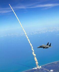birds eye view shuttle launch