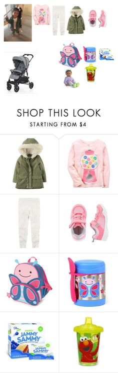 """""""Jasmine Garrison Airport"""" by seanna-searles ❤ liked on Polyvore featuring Skip Hop and Sesame Street"""