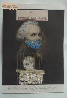 Barbe Bleue : Illustration brodée et collages