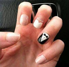 Bride and groom nails. #cute nail designs
