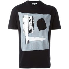 Mcq Alexander Mcqueen Cotton T-Shirt ($125) ❤ liked on Polyvore featuring men's fashion, men's clothing, men's shirts, men's t-shirts, black, mens cotton t shirts, mens straight hem shirts, mens short sleeve t shirts, mens short sleeve shirts and mens short sleeve cotton shirts