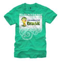 Official 2014 FIFA World Cup Brasil Logo Adult T-Shirt