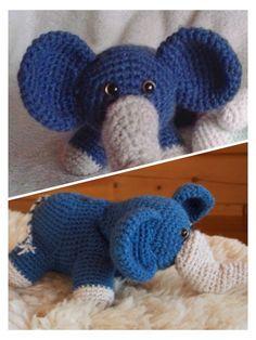 Originální roztomilý slon v různých barvách Crochet Hats, Knitting Hats
