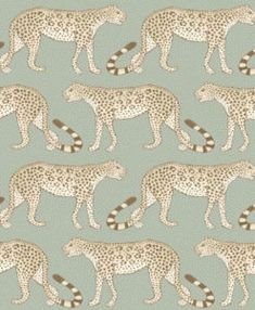 Leopard Walk by Cole & Son - Olive / White - Wallpaper : Wallpaper Direct