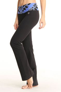 Balance Collection by Mar Dina Flat Waist Yoga Pant In Dazzling Blue -