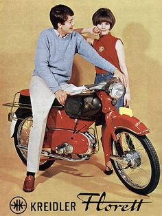 Small Motorcycles, Vespa Girl, Ivy Style, Classic Motors, 50cc, Mini Bike, Scooters, Vintage Ads, Motorbikes
