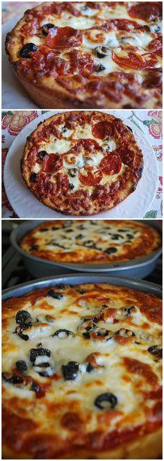 Pizza Hut Pan Pizza Deep Dish Recipe via Your Homebased Mom