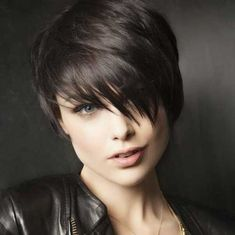 Dark Layered Pixie Cuts