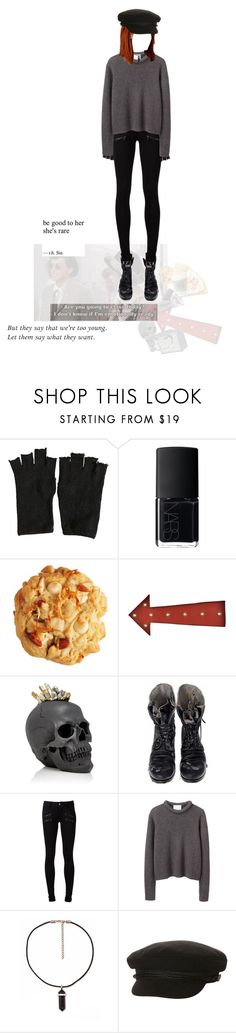 """""""you said the brains i had went to my head"""" by avintagemystery ❤ liked on Polyvore featuring AllSaints, Disney, NARS Cosmetics, MANGO, Lazy Susan, Lisa Carrier, Eos, Augusta, Paige Denim and 3.1 Phillip Lim"""