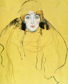 GUSTAV KLIMT * 1862-1918 * Austrian * Symbolism ~ Modern art ** yellow lady