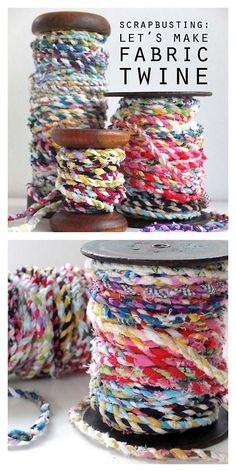 DIY Twisted Scrap Fabric Rope Tutorial from My Poppet here. If...