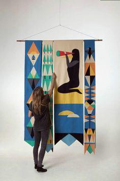 sue-doeksen-pictoplasma would use same layout but completley different pattern/design Design Textile, Textile Patterns, Design Art, Flag Design, Flower Illustrations, Illustration Arte, Decor Scandinavian, Textile Fiber Art, Art Graphique