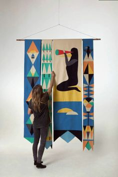 'Mood Swings' (Carpet Textile, 2014, 250 x 180cm) by Sue Doeksen