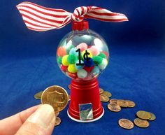 Mini Gumball Machine Christmas Ornament Tutorial