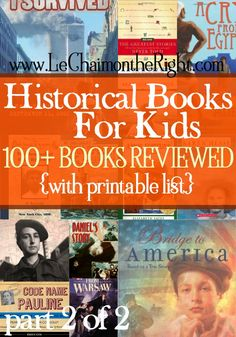 Historical Books for Kids, PART II via Le Chaim