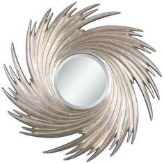 "Uttermost Spiral Flow 38 1/4"" Wide Wall Mirror http://www.lampsplus.com/products/uttermost-spiral-flow-38-and-one-quarter-inch-wide-wall-mirror__j6342.html#"