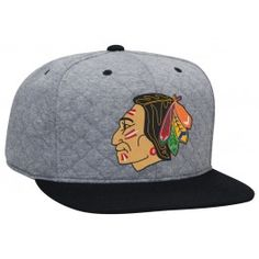 b467f0e9841 Quilted High Crown Fitted Chicago Blackhawks - Shop Mitchell   Ness NHL  Fitted Hats and Headwear
