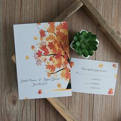 fall wedding invitations rsvps reception cards weddings pinterest weddings wedding and creative wedding ideas - Fall Wedding Invitations Cheap