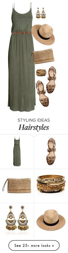 """Summer Boho w/animal print"" by curvygirlamy on Polyvore featuring Amrita Singh, Dorothy Perkins, Lack of Color and Gianvito Rossi"