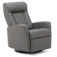 Palliser Furniture Banff II Wall Hugger Recliner Upholstery: All Leather Protected - Tulsa II Chalk