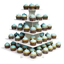 Stunning cupcake tree in pale blue/green
