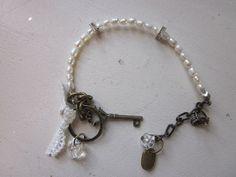 Wedding Bracelet Bridal Charm Bracelet Genuine by JoieLaVie, $45.00