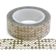 Buy washi tape geometric pattern - home craft products - Cotton Candi Triangles, Washi Tape, Home Crafts, Pretty, Pattern, Cotton, Gold, Stuff To Buy, Patterns