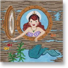 Mermaid Needlepoint Canvas- Starke Art Designs