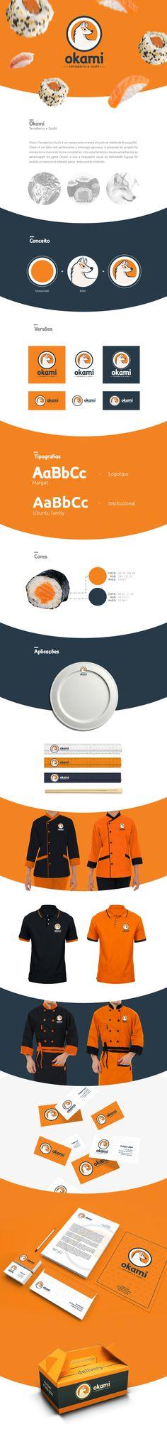 Okami Temakeria e Sushi   Identidade Visual on Behance Sushi, Behance, Logos, Visual Identity, Logo, Sushi Rolls