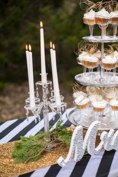 New Years Wedding - Cake Table