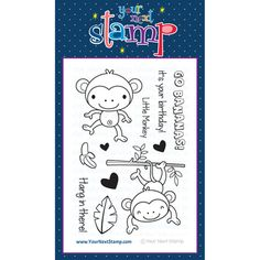 Your Next Stamp Clear Stamps - Monkey Fun