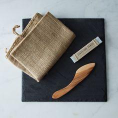 Brooklyn Slate Cheese Board, Knife and Soapstone Pencil Set on Food52