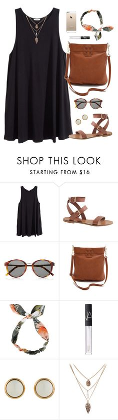 """""""headband"""" by classically-preppy ❤ liked on Polyvore featuring H&M, J.Crew, Yves Saint Laurent, Tory Burch, NARS Cosmetics and Hermès"""