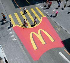 McDonalds - MacFries en los pasos de peatones. #creative #streeart