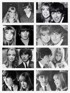 #George and Pattie #George Harrison #Pattie Boyd