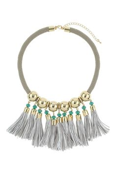 12 Tassel Necklaces With Loads Of Fringe Benefits #refinery29  http://www.refinery29.com/tassel-necklaces#slide12