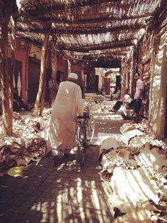 Souk de peaux, Marrakech.