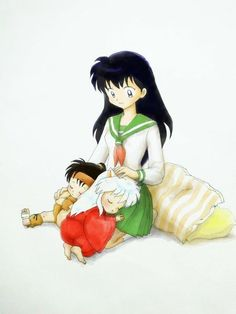 Kagome and her two boys.
